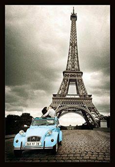 Paris - Romance (Blue VW) (24x36) - FAR00042