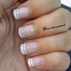 uñas francesas elegantes y sencillas Nail Art, Ideas, Nail Art Designs, Fingernail Designs, Perms, French Nails, Nail Arts, Thoughts