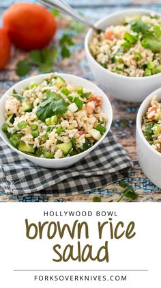 Hollywood Bowl Brown Rice Salad. This would be good with quinoa too!
