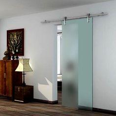 Eclisse Vetroglide Tech Satin Glass Sliding Door - Lifestyle Image