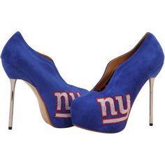 New York Giants Cuce Shoes Women's Crusader High Heel Bootie - Royal Blue