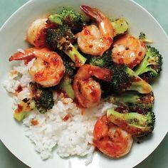 Spicy Shrimp-and-Broccoli Stir-Fry