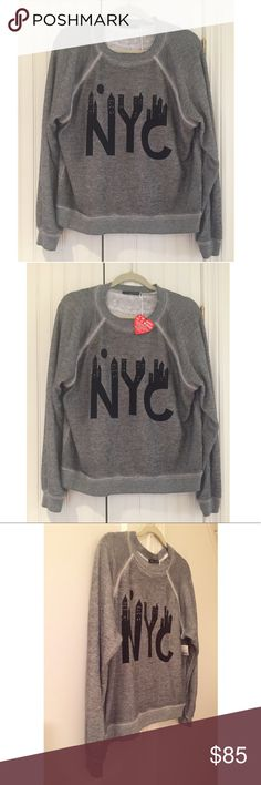 NWT Wildfox NYC Heather Grey Super Soft Sweatshirt Get into an Empire State of Mind  when you get into this ultra soft & comfy NWT Wildfox NYC sweatshirt!  Size XS. 50% polyester/46% cotton/4% rayon. Made in USA. More description plus measurements to follow shortly... Wildfox Tops Sweatshirts & Hoodies