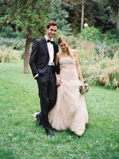 strapless blush wedding gown #weddingdress #bride #weddingchicks http://www.weddingchicks.com/2014/01/31/italian-dream-wedding-ideas/