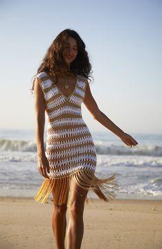Crochet Clothes, Diy Clothes, Crochet Outfits, Crochet Dresses, Free Crochet Dress Patterns, Crochet Skirt Outfit, Crochet Midi Dress, Beach Crochet, Crochet Bathing Suits