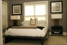 Bed In Front Of Window Design Ideas, Pictures, Remodel, and Decor