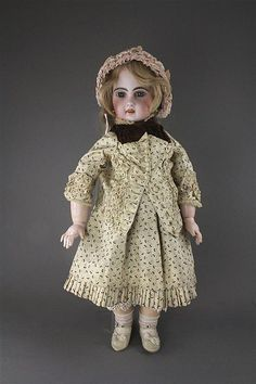 Click for full-sized image. Jumeau antique French doll.