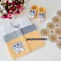Best 11 loyda garciaola's media content and analytics – SkillOfKing. Hand Knitted Sweaters, Boys Sweaters, Baby Knitting Patterns, Hand Knitting, Crochet Baby, Knit Crochet, Womens Fashion Online, Baby Hats, Kids And Parenting