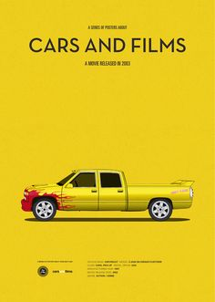 Kill Bill: Vol. 1 (2003) ~ Minimal Movie Poster by Jesus Prudencio ~ Cars and Films Series