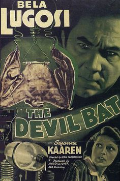 Bela Lugosi: 'The Devil Bat'.