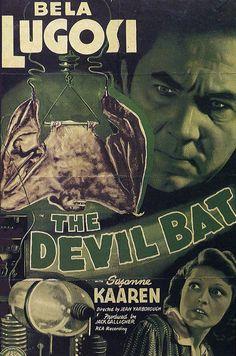 Bela Lugosi: 'The Devil Bat'.