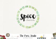 Watercolor Circular Logo Design - website logo, boutique logo, creative business branding