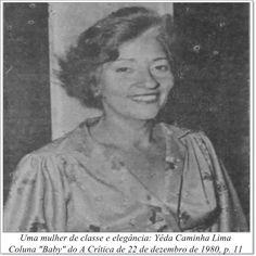 """Yêda Caminha Lima. Coluna """"Baby"""" do A Crítica de 22 de dezembro de 1980."""