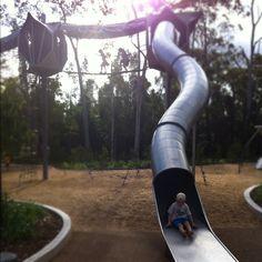 Hidden Brisbane Playground: Calamvale District Park Hunter Boots, Brisbane, Playground, Rubber Rain Boots, Places To Go, Cherubs, Adventure, Photo And Video, Park