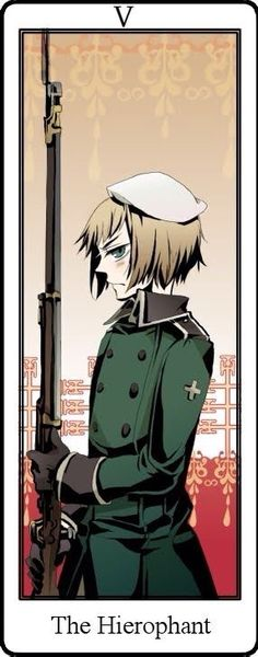 Hetalia Tarot Cards. The Hierophant Card V Switzerland