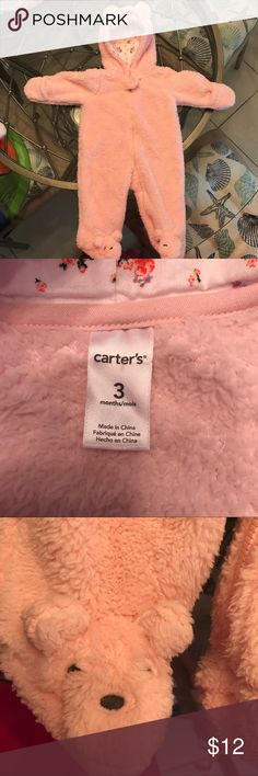 Carters baby jacket/onesie Pink fluffy and warm Carter's One Pieces Footies