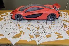 Paper model kit Veneno Papercraft 3D paper