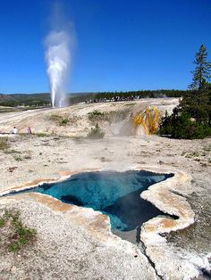 Blues and Blasts, Upper Geyser Basin , Yellowstone National Park