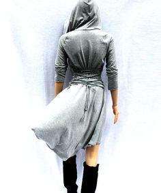 Kleid grau Kleid Casual Tag-Kleid niedrige hohe von MIRIMIRIFASHION