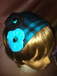 Lovely New Fascinator Blue and Black Felt on a  Headband  #Unbranded #Casual #none