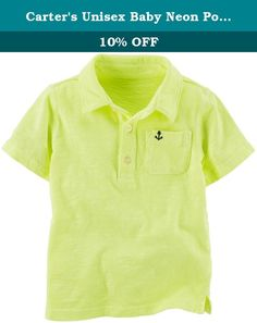 Carter's Unisex Baby Neon Polo (Baby) - Yellow - 3M. Carters Neon Polo (Baby) - Yellow Carter's is the leading brand of children's clothing gifts and accessories in America selling more than 10 products for every child born in the U.S. Their designs are based on a heritage of quality and innovation that has earned them the trust of generations of families.