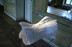 19th century corset, plaster, wax, and real shark teeth. Sarah Garzoni #Sculpture