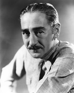 """It was my mustache that landed jobs for me. In those silent-film days it was the mark of a villain. When I realized they had me pegged as a foreign nobleman type I began to live the part, too. I bought a pair of white spats, an ascot tie and a walking stick."" - Adolphe Menjou"