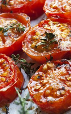 Balsamic Roasted Tomatoes by foodlover #Roasted_Tomatoes #Easy