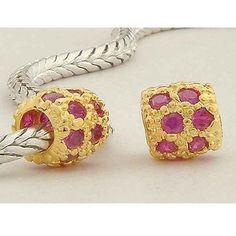 Classic Pandora Gold Beads GP034 Purple Jeweled-pandora store locator