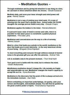 Printable Meditation Quotes