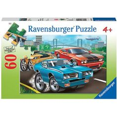 Ravensburger Muscle Cars Puzzle, 60 Pieces, Multicolor