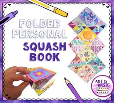 "One of the first projects my 4th/5th grade students created this year were personal ""About Me"" folded squash books.  The kids were introduced to a simple foldable bookmaking technique a…"