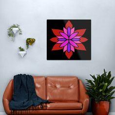 """Lotus Star Design"" Metal Print by Pultzar   Redbubble"