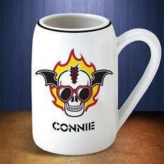22 oz Mohawk Flaming Skull Mug for Teenager Gifts on Halloween Night