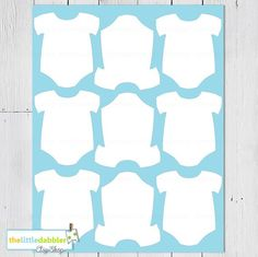 Baby One Piece Templates / Thelittledabbler