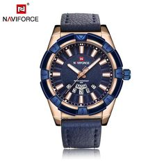 2018 NAVIFORCE Luxury Brand Men's Leather Quartz Watch Fashion Sport Watches Male Casual Waterproof Auto Hours Watches