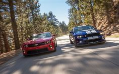 Where's the Dodge Challenger??  2012 Chevrolet Camaro ZL1 vs. 2013 Ford Shelby GT500 - Yahoo! Autos