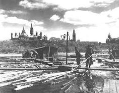 Outaouais' Forest History - An original extreme sport: log-driving! Ottawa City, Ottawa River, Commonwealth, Model Railway Track Plans, Largest Countries, Expo, History Museum, Extreme Sports, Photo Archive