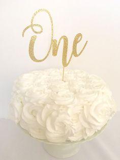 Forty Gold Glitter Cake Topper 40th Birthday Cake Topper