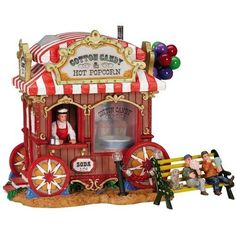Lemax Christmas Village Circus Carnival Zoo Cotton Candy Stand 43439 NIB