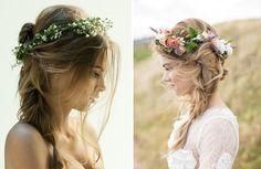 Penteado meio preso e meio solto para noivas As Melhores Amigas da Noiva: 10 penteados de noiva com aspecto bagunçado