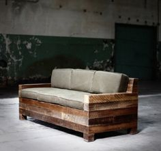 Pallet Designs Sofa by Districtmillworks - Pallet Sofa, Pallet Furniture, Furniture Projects, Furniture Plans, Rustic Furniture, Furniture Design, Outdoor Furniture, Classic Furniture, Porch Furniture