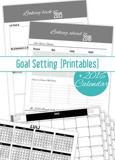 Set your New Year's Goals and get 2016 Calendar! [FREEBIE]