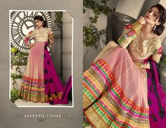Beautifull Looking Multi Colour Chiffon Designer Dress Material