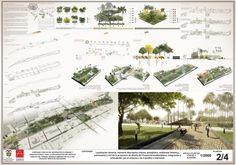 1er. puesto. Concurso Recuperación Parque Grancolombia. Plancha 2/4.