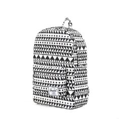 Herschel Black and White Geometric Triangles Backpack