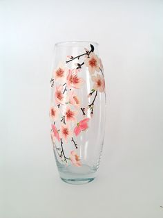 Hey, I found this really awesome Etsy listing at https://www.etsy.com/listing/266353960/sakura-glass-vase-hand-painted-vase-hand