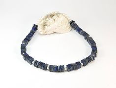 This sophisticated, boho chic necklace is as versatile as it is classic. A pairing of lapis lazouli