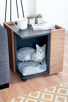 CORNER Cat or Little Dog Cave / Bed Furniture Coffee Table   Etsy
