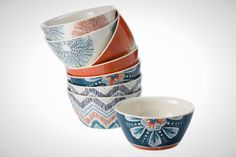 How fun are these patterned bowls? Add them to your registry stat.